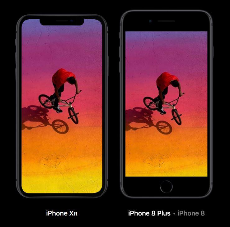 iPhone Xr vs iPhone 8 Plus - Apple size comparison