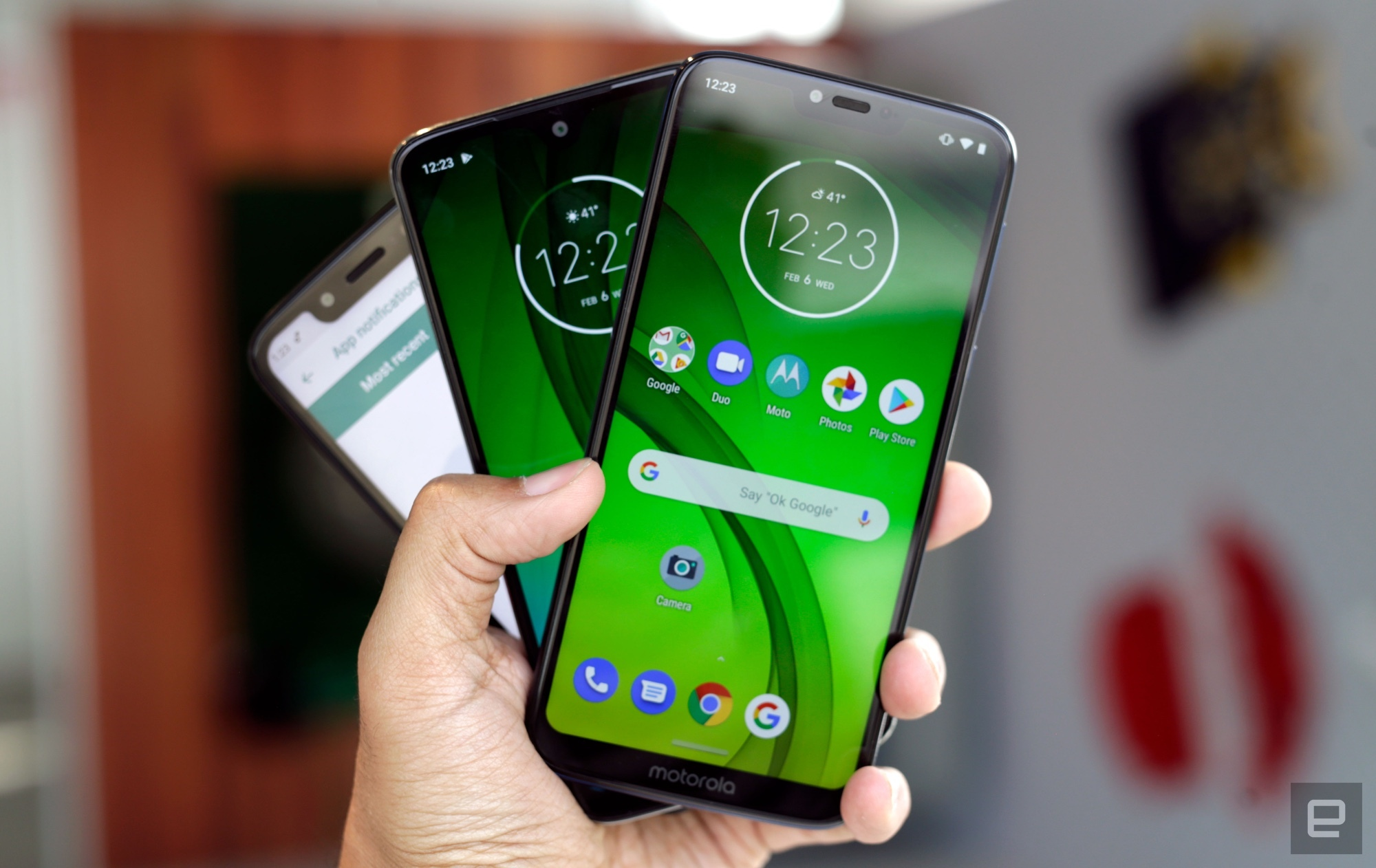 Moto G7 series. Photo from Engadget.