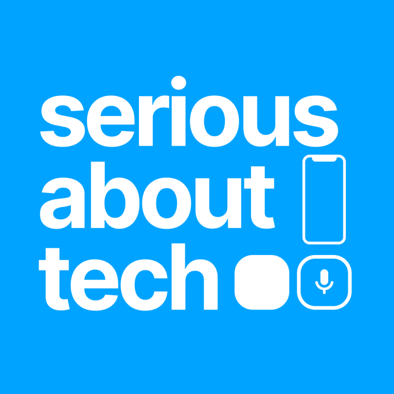 Serious About Tech (logo with notched smartphone and app icons next to it)